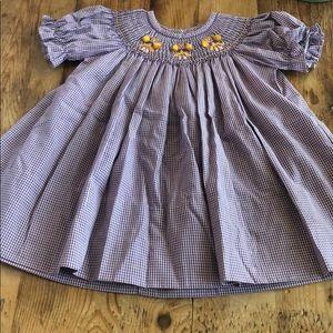 LSU Smocked Dress